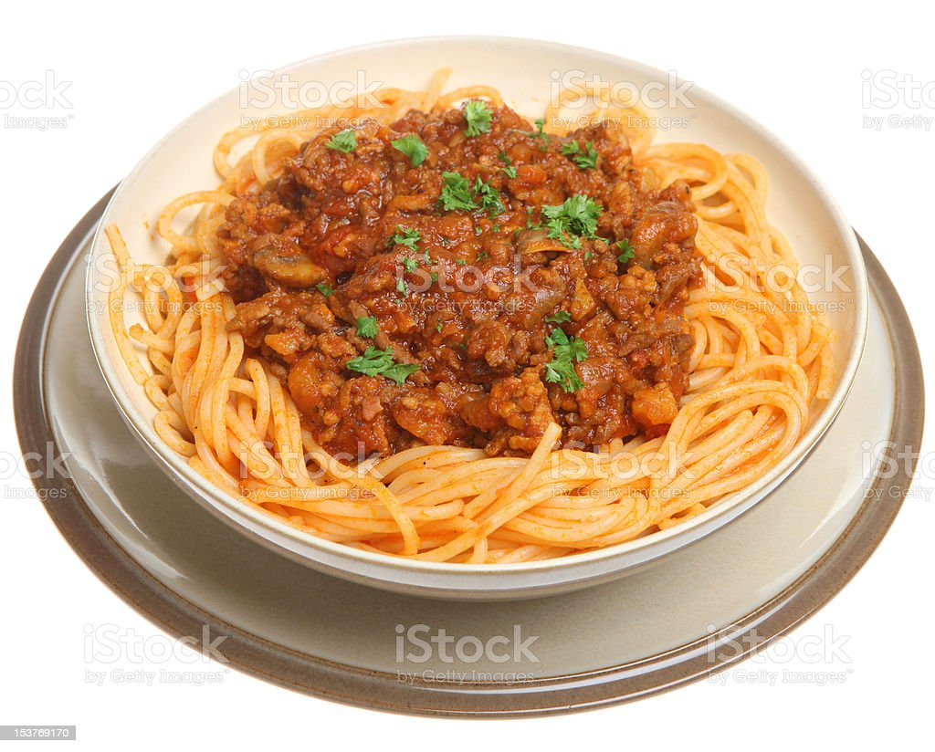 Spaghetti Bolognaise royalty-free stock photo