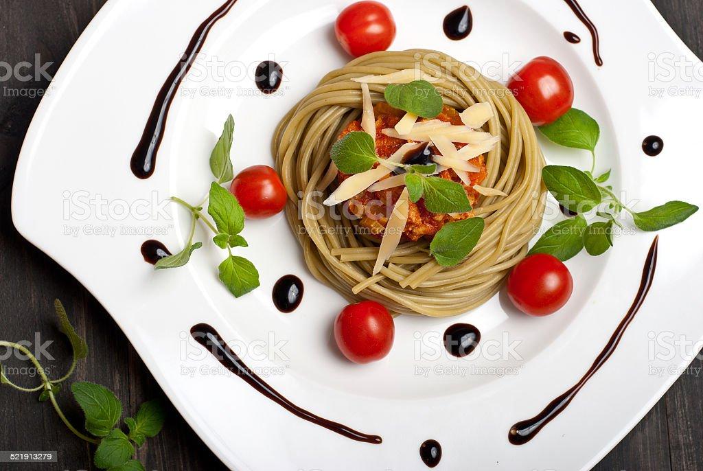 Espagueti boloñesa foto de stock libre de derechos