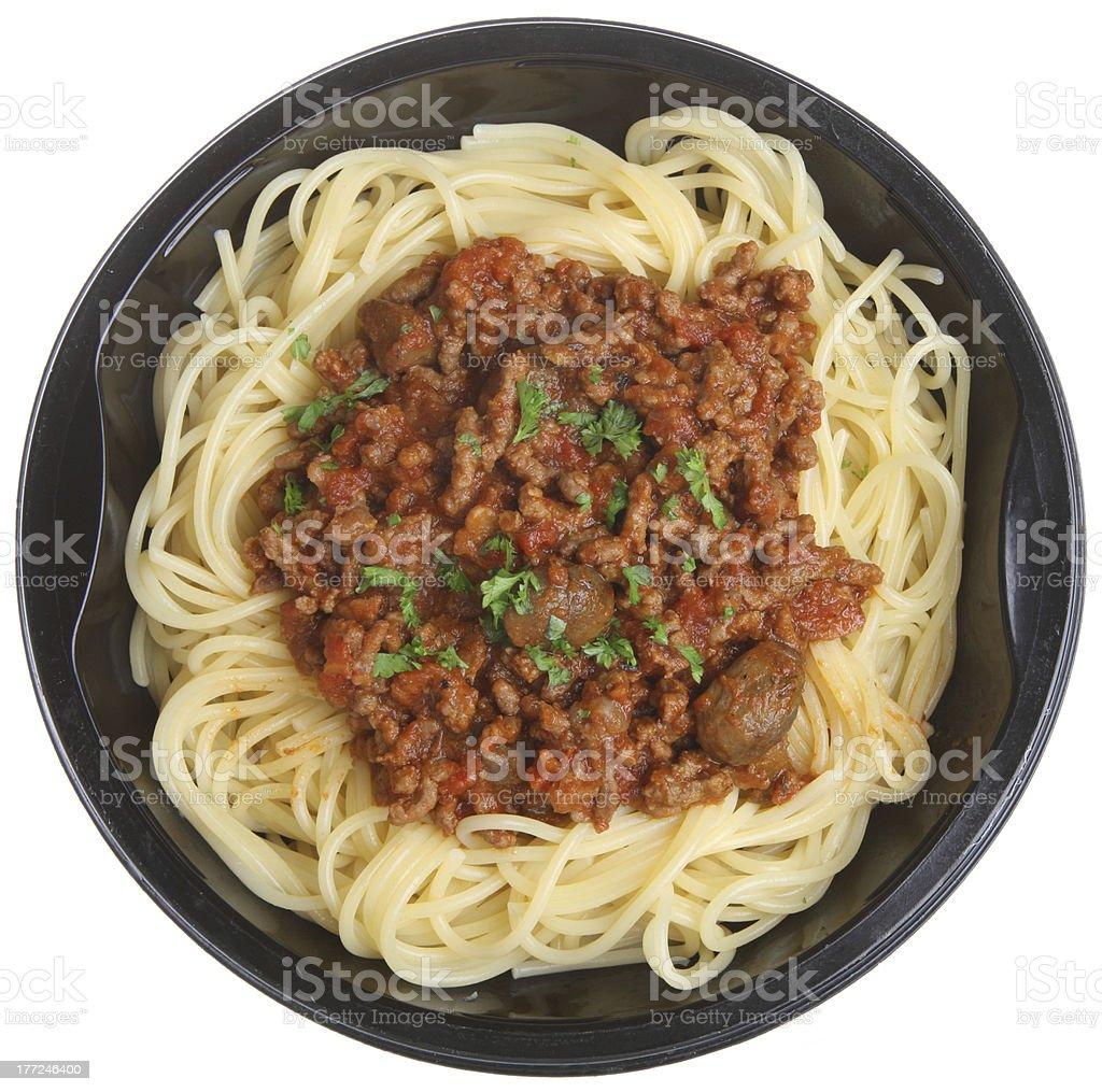 Spaghetti Bolognese Ready Meal stock photo