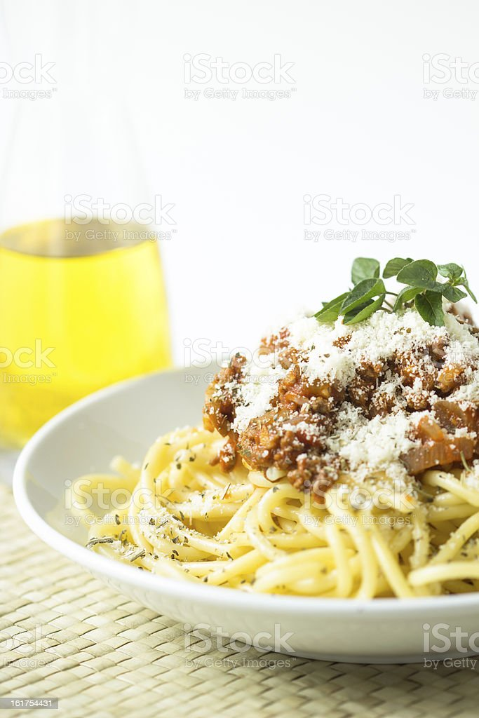 spaghetti bolognese tomato beef meat sauce royalty-free stock photo