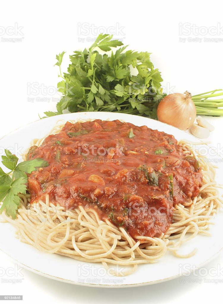 spaghetti dinner royalty-free stock photo