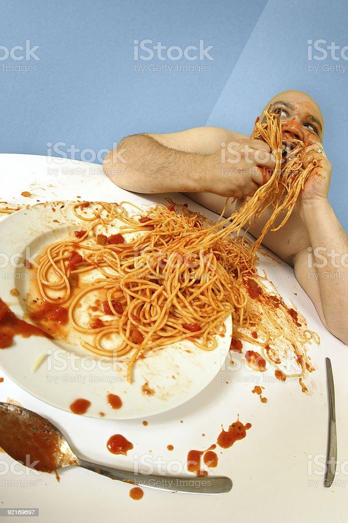 Spaghetti good stock photo
