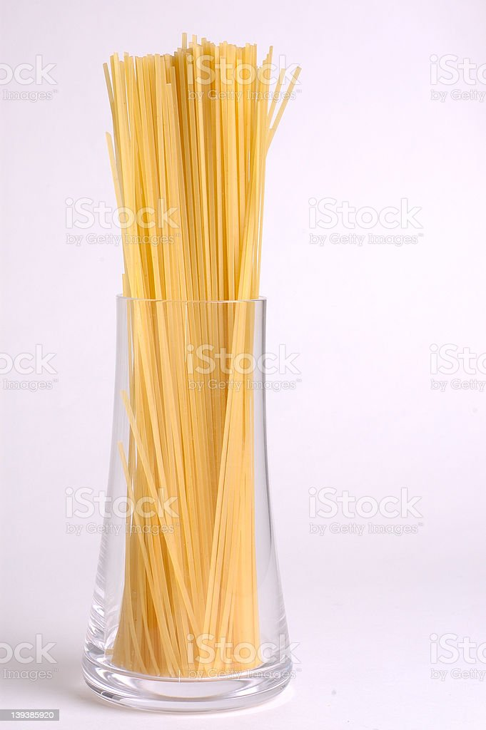 spaghetti in a glass royalty-free stock photo