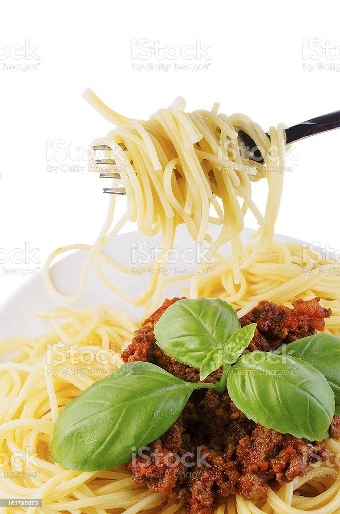spaghetti isolated royalty-free stock photo