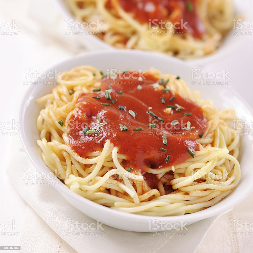 Spaghetti napoli stock photo