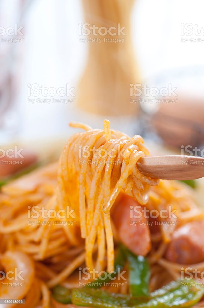 Spaghetti Neapolitan stock photo