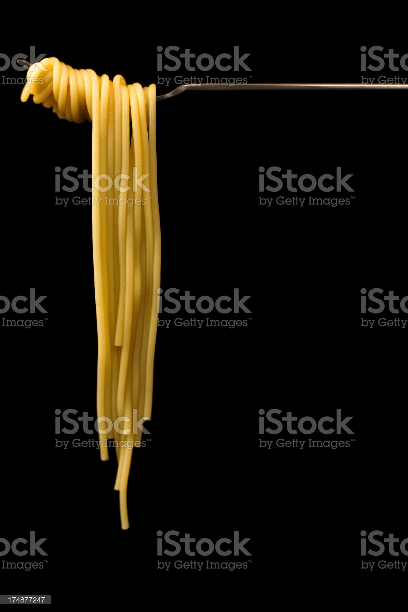 Spaghetti On A Fork royalty-free stock photo