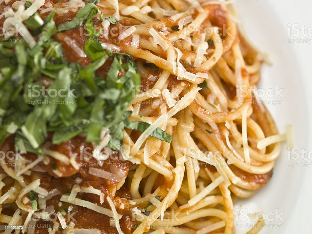 Spaghetti Pomodoro royalty-free stock photo