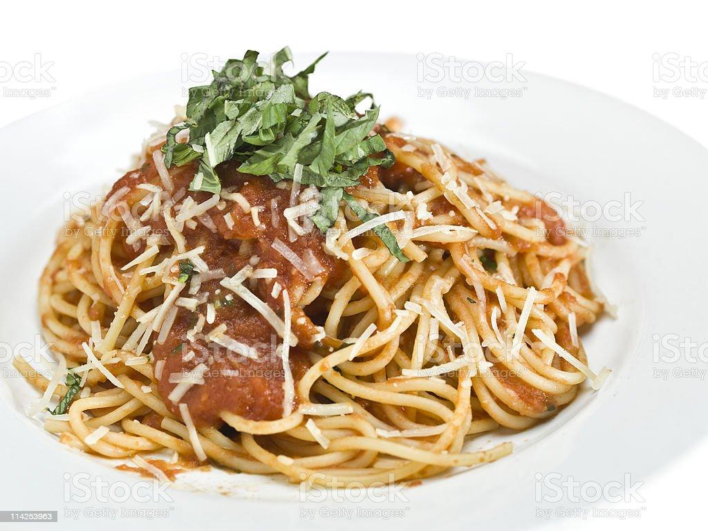 Spaghetti Pomodoro stock photo