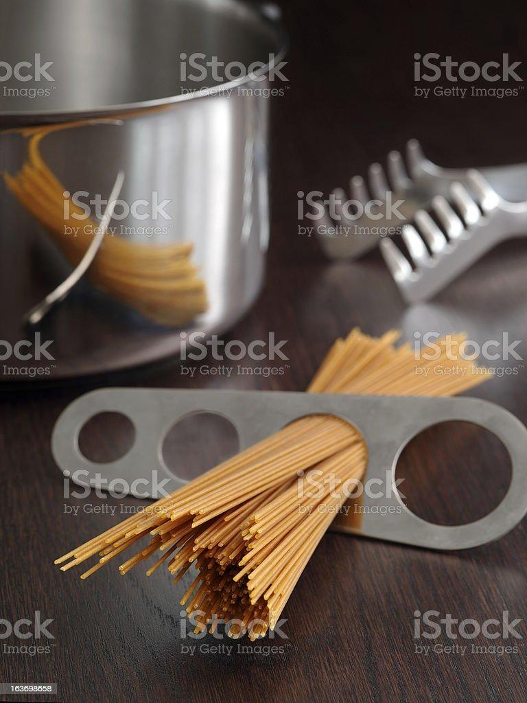 Spaghetti portion royalty-free stock photo