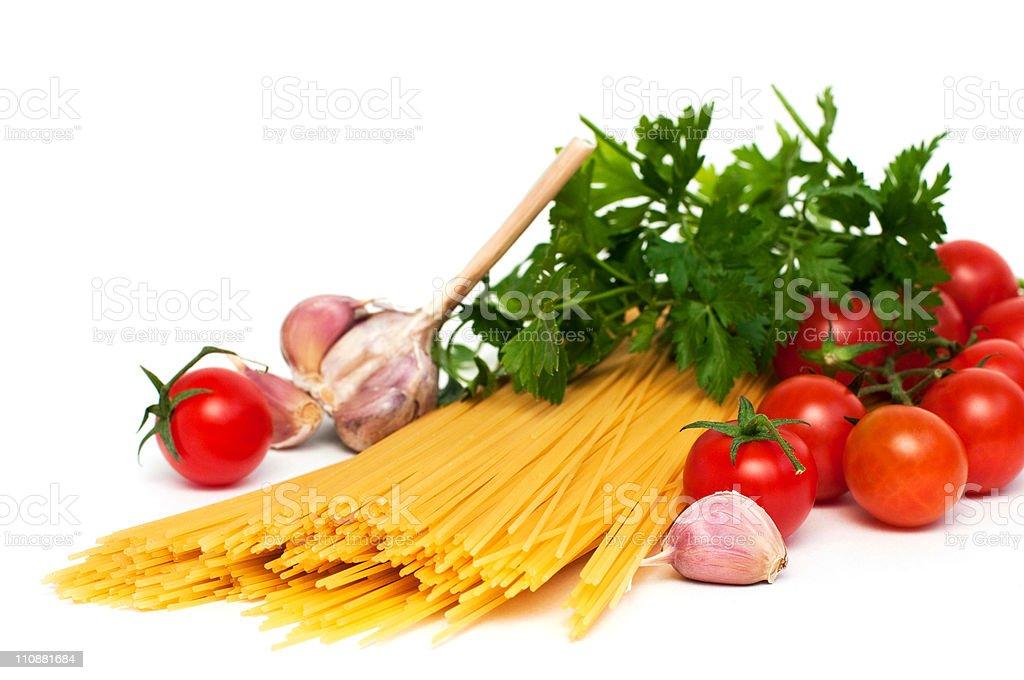 Préparation Spaghetti photo libre de droits