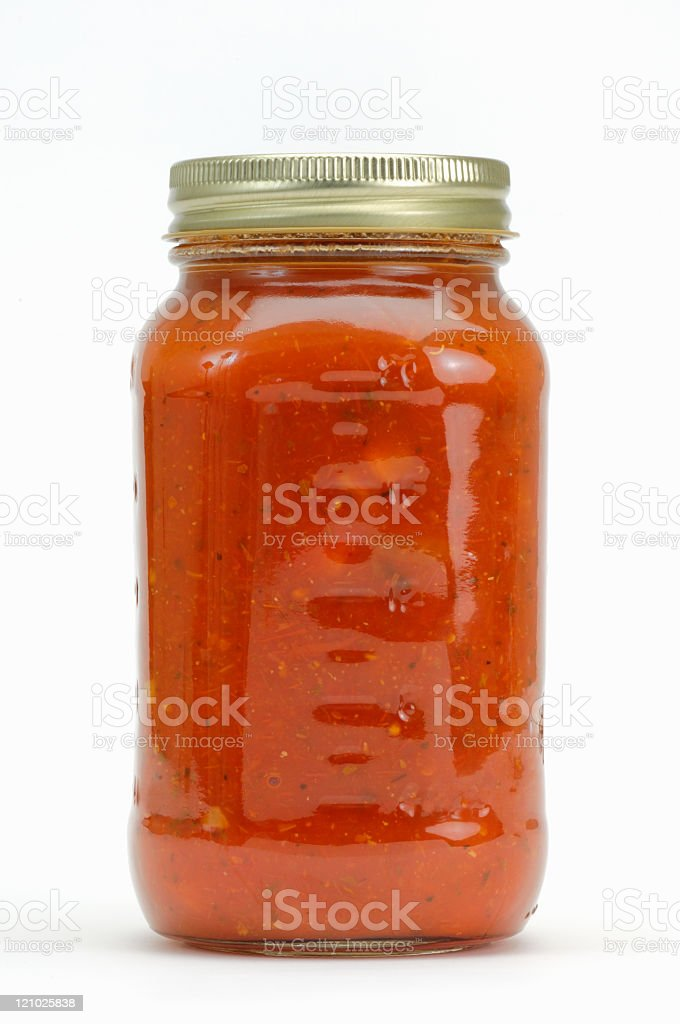 Spaghetti sauce stock photo