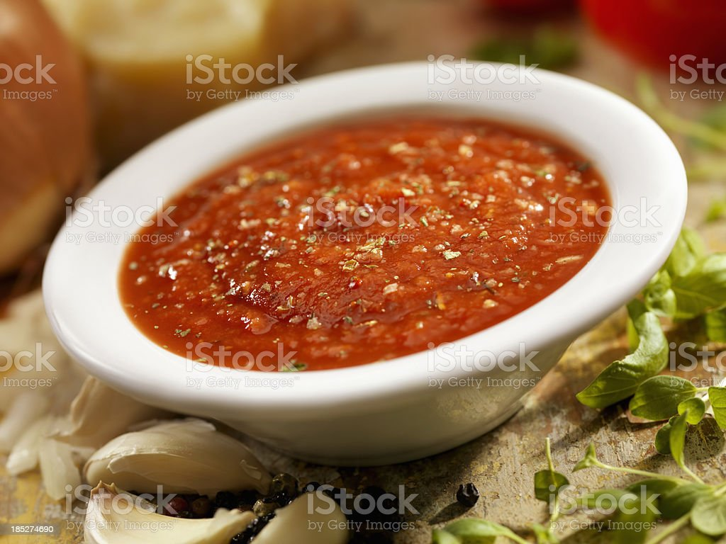 Spaghetti Sauce stock photo