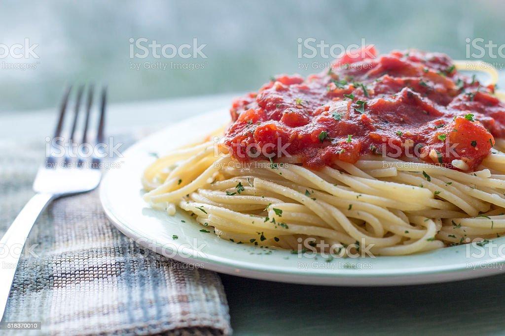 Spaghetti Tomato Sauce stock photo
