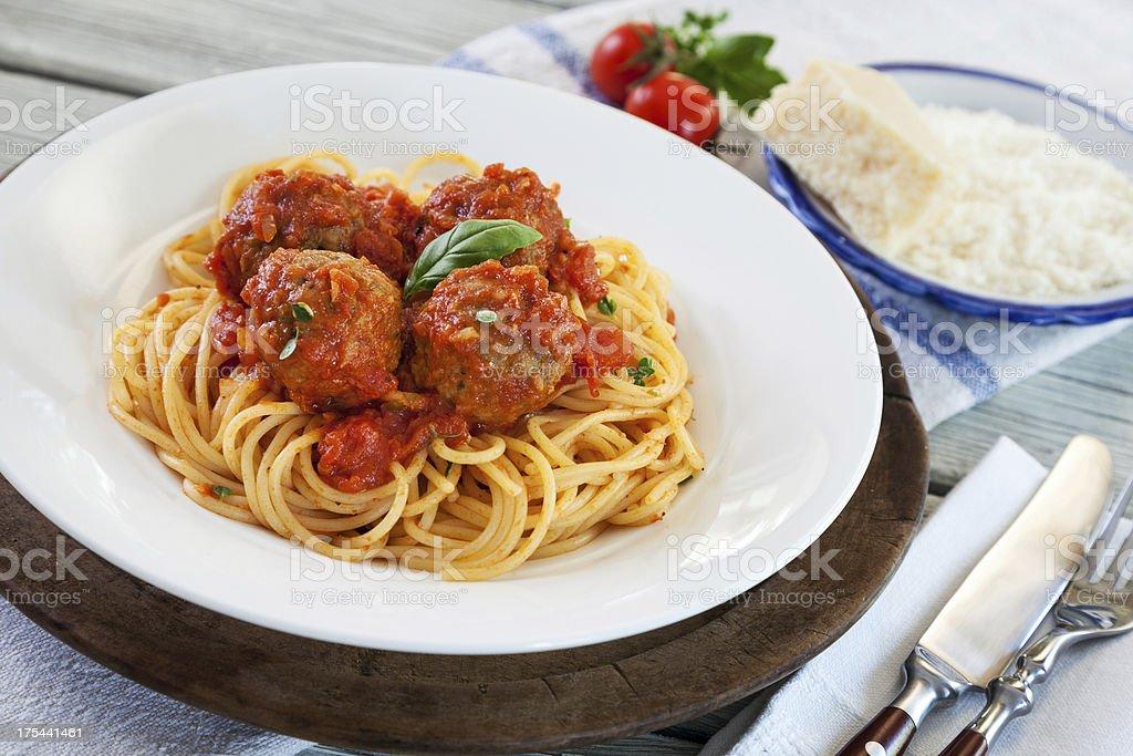 Spaghetti with Meatball stock photo