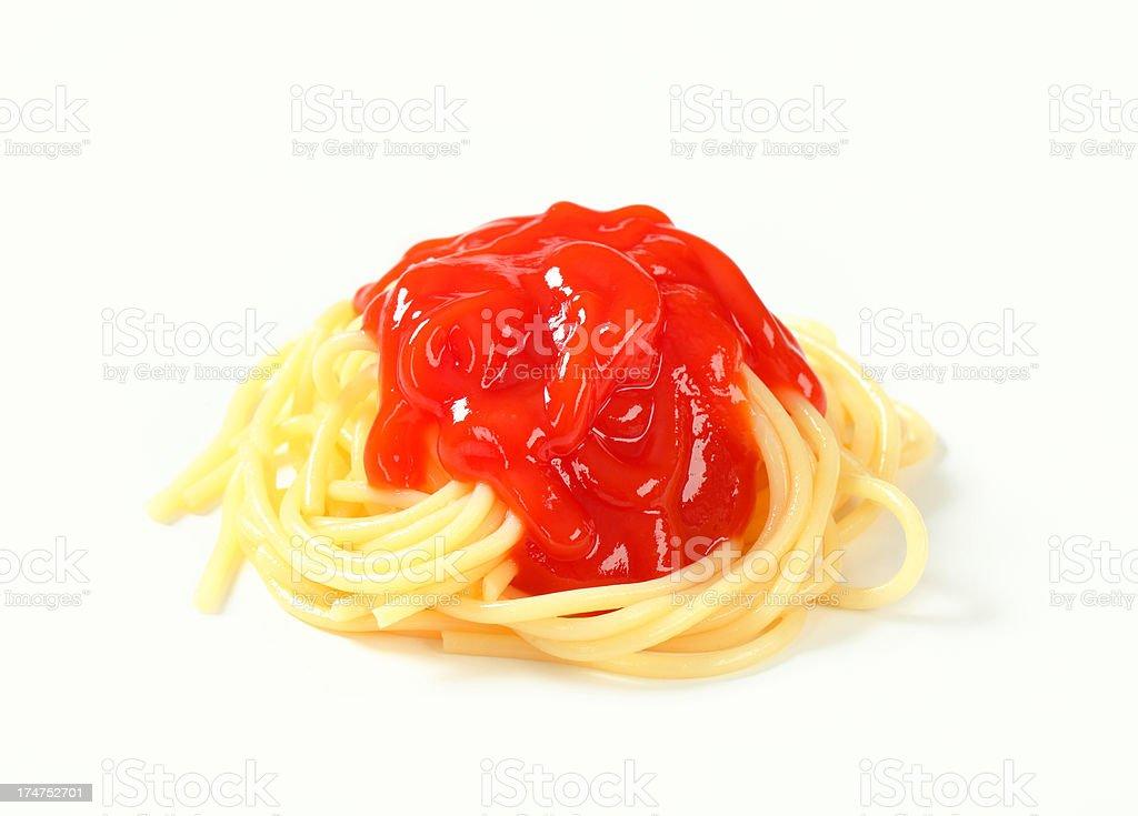 spaghetti with sauce royalty-free stock photo