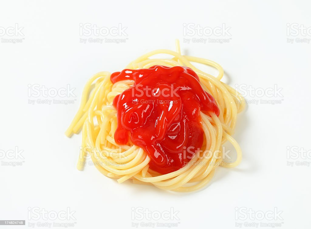 spaghetti with sauce royalty-free stock photo