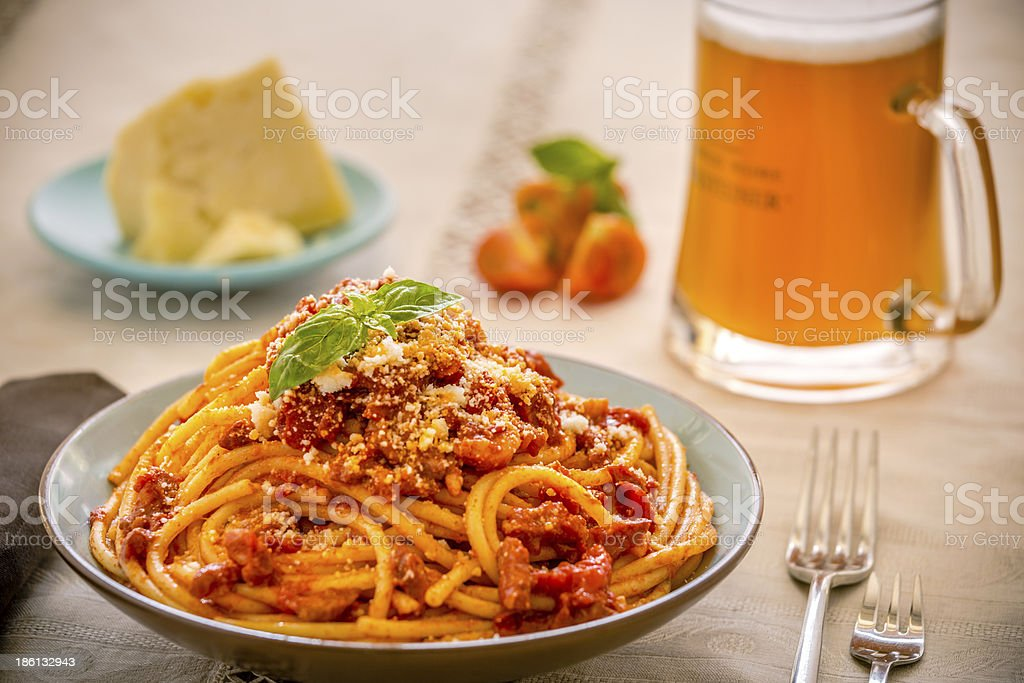 Spaghetti al pomodoro! royalty-free stock photo