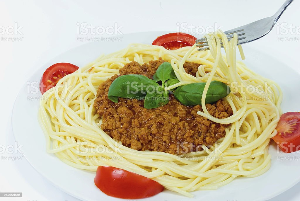 Spaghetti,with sauce bolognese royalty-free stock photo