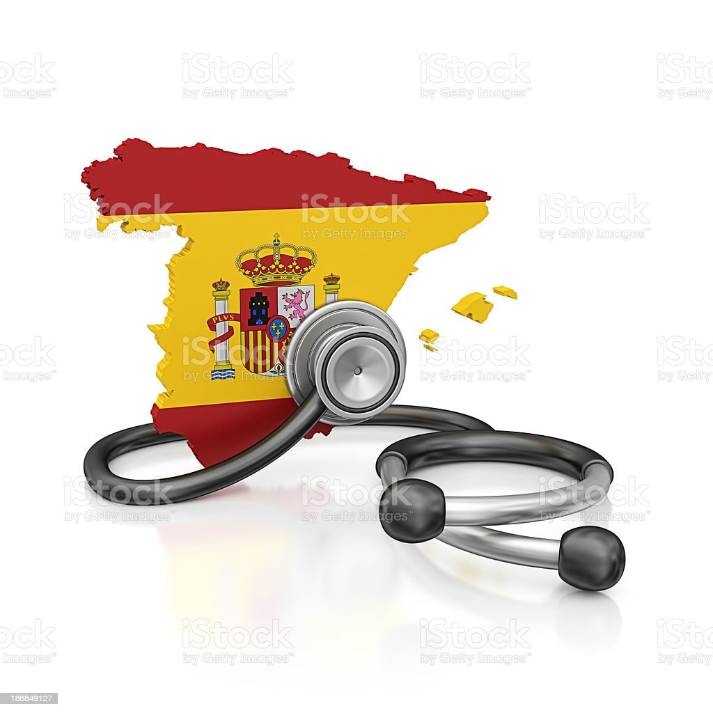 spain and stethoscope royalty-free stock photo