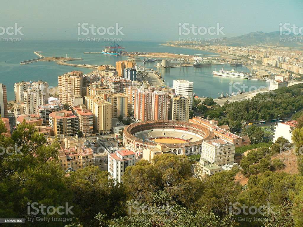 Spain, Andalusia, Malaga, Arena, Port royalty-free stock photo