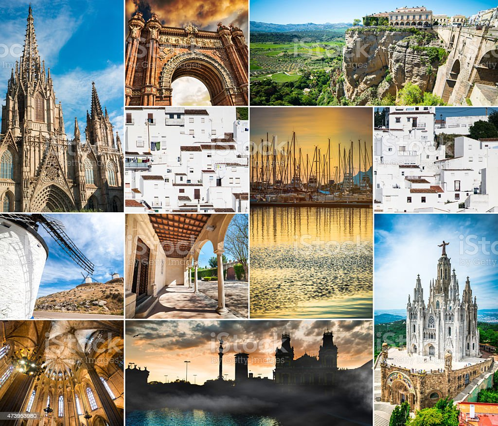 Spain collage stock photo