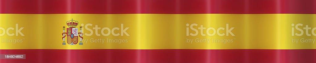 Spain flag banner stock photo