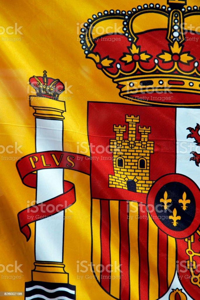 Spain flag detail stock photo