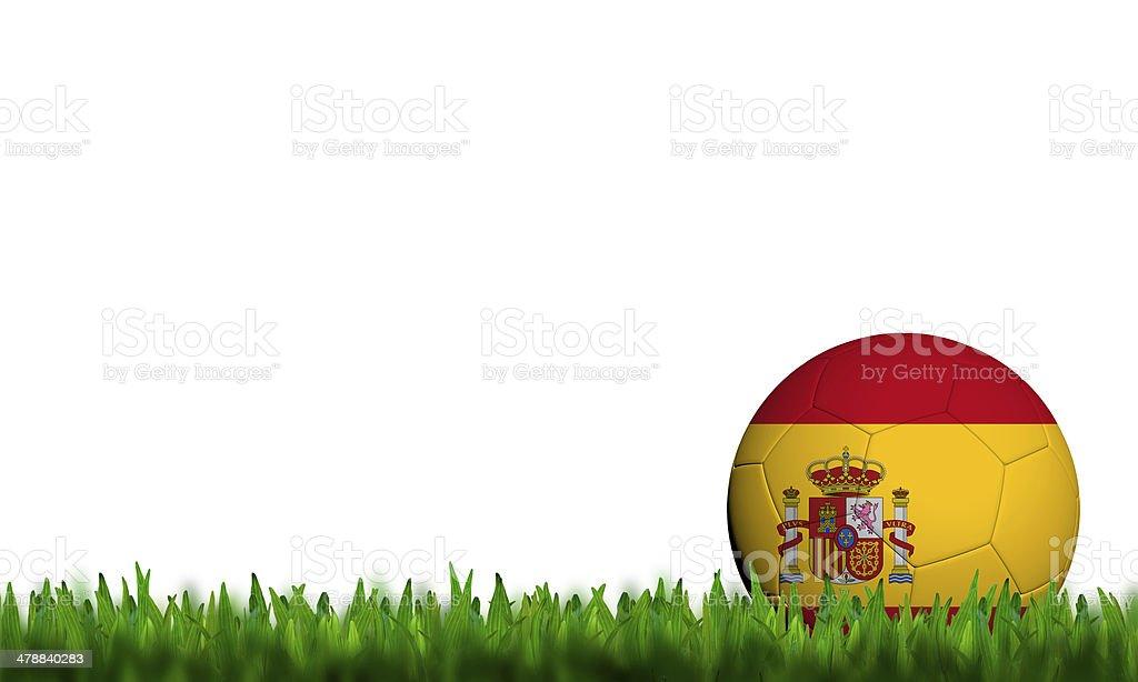 Spain Flag Pattern 3d rendering stock photo