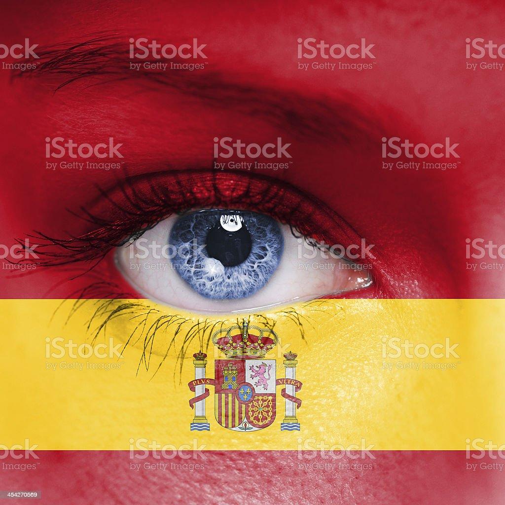 Spain flag royalty-free stock photo