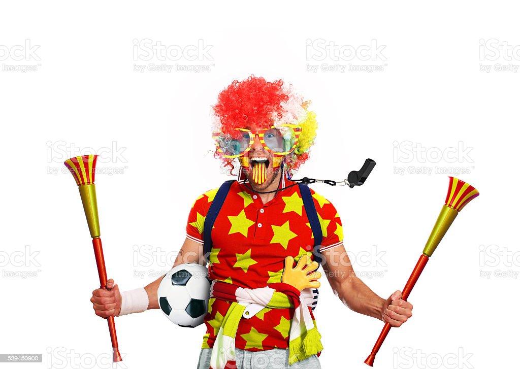 Spain football fan stock photo