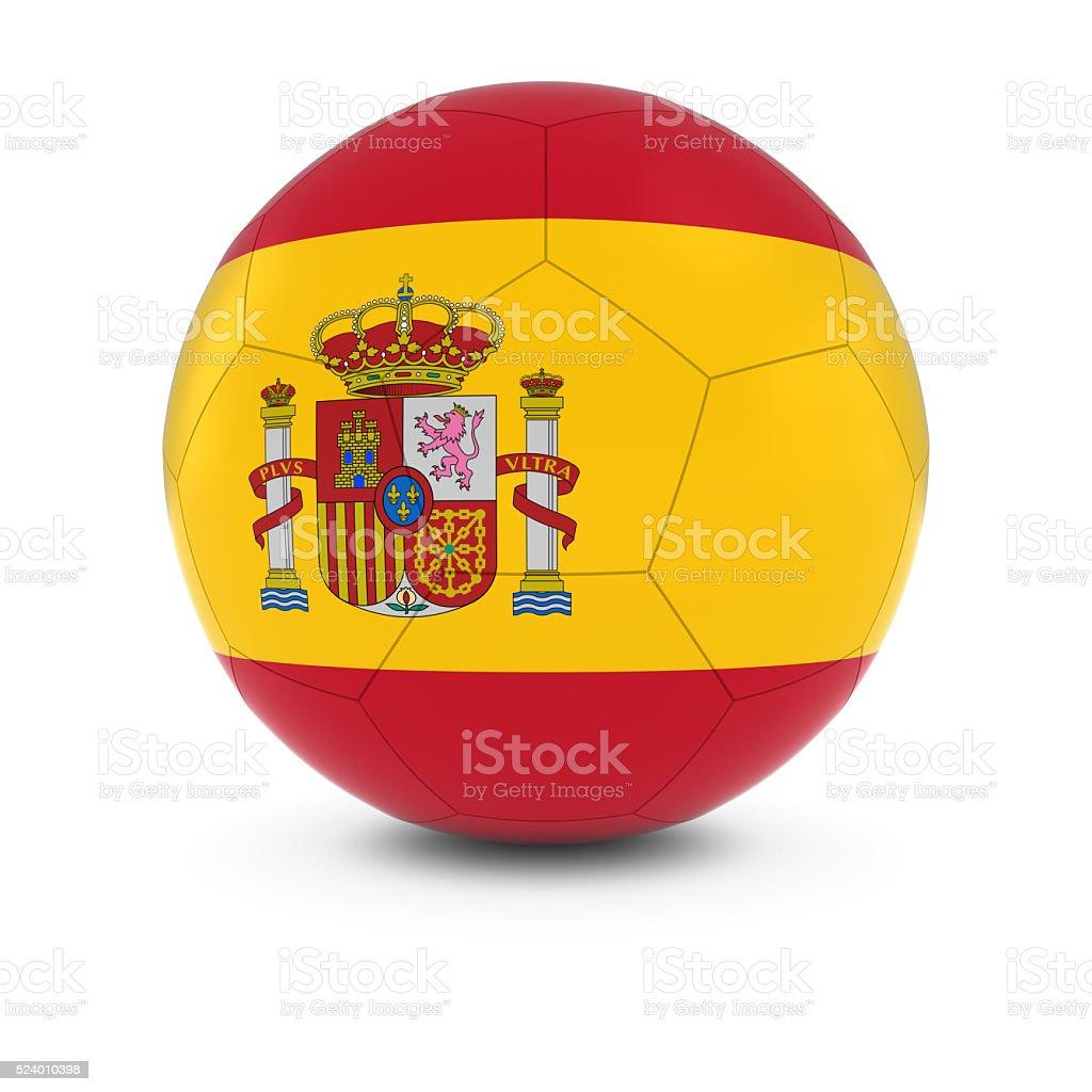Spain Football - Spanish Flag on Soccer Ball stock photo