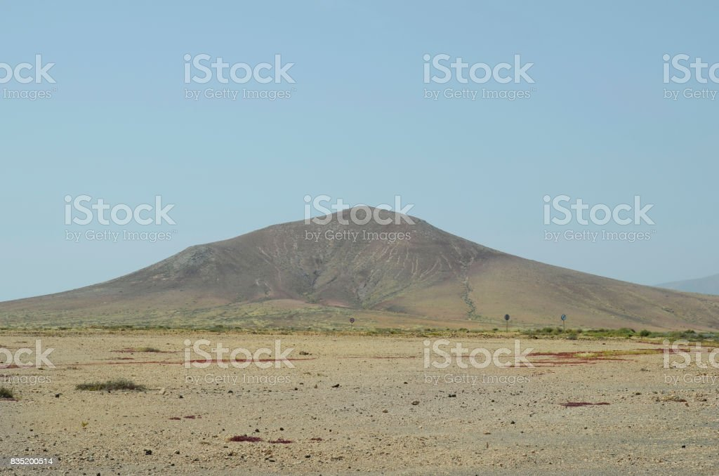 Spain, Fuerteventura, landscape without trees stock photo