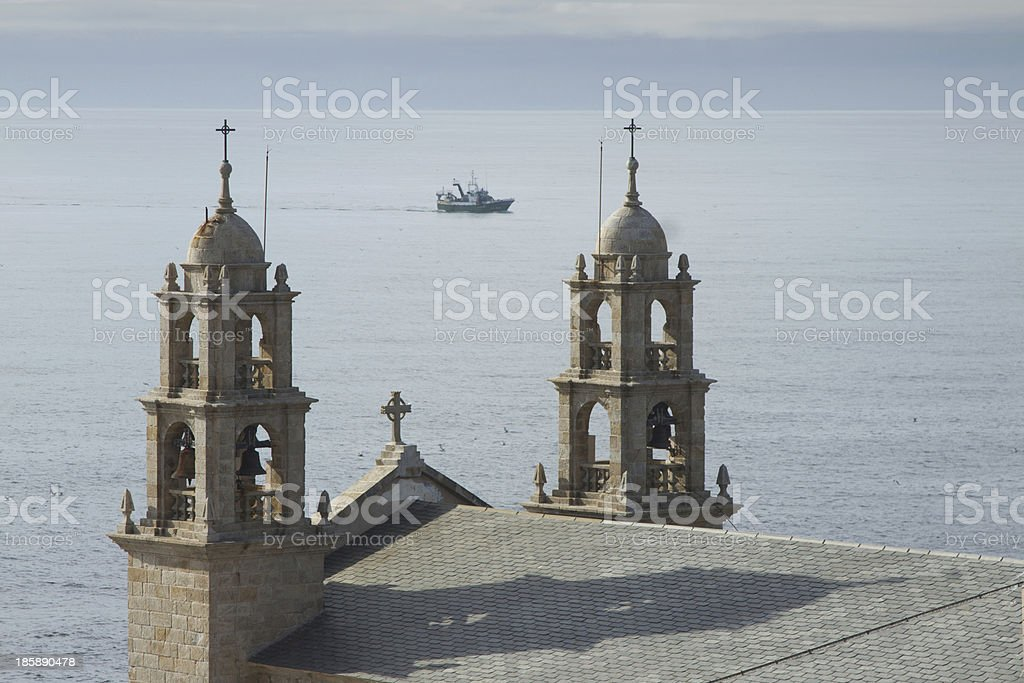 Spain, Galicia, Muxia, Virxen de la Barca Sanctuary royalty-free stock photo