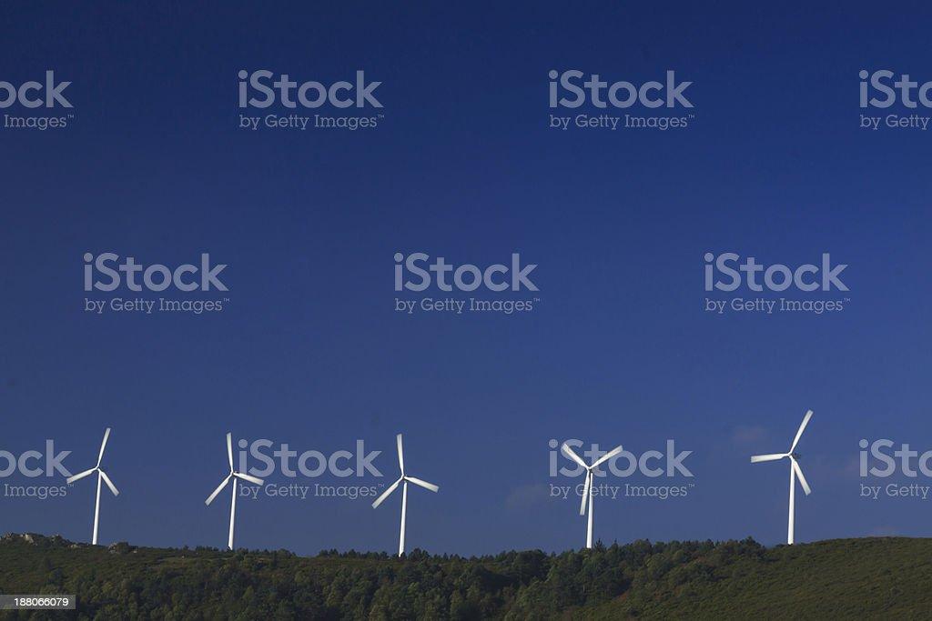 Spain, Galicia, Wind Turbines stock photo