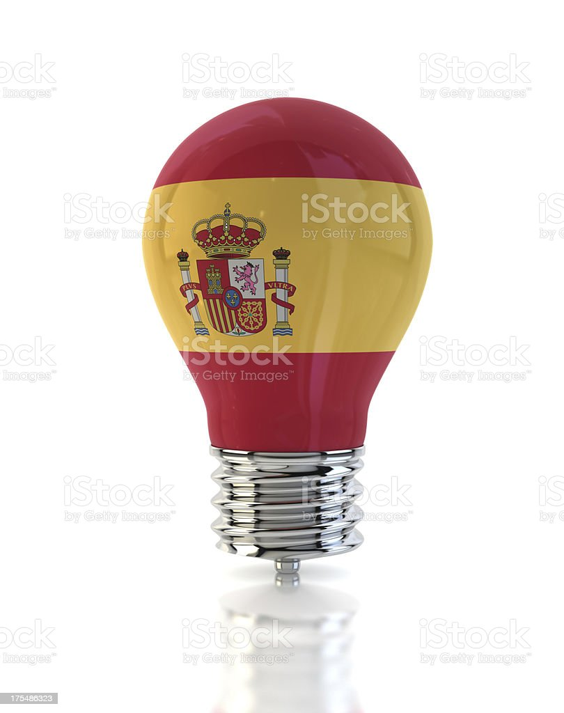 Spain Light Bulb stock photo