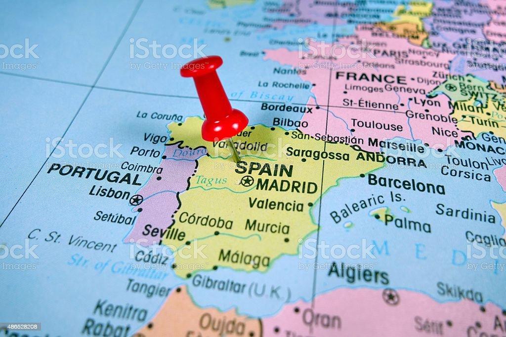 Spain map stock photo
