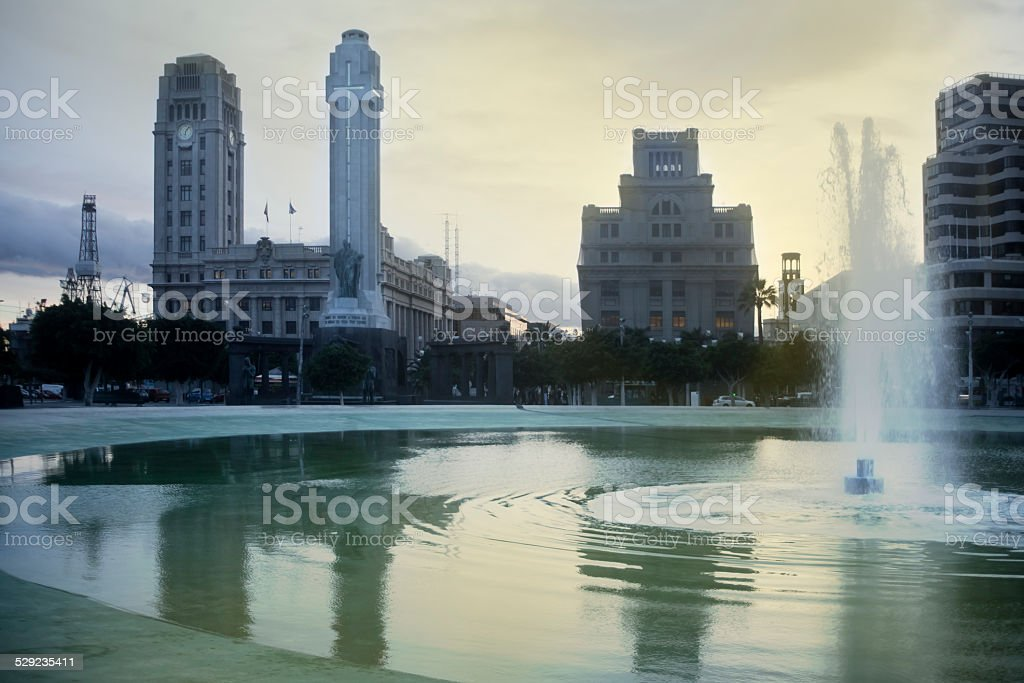 Spain square in Santa Cruz de Tenerife. stock photo