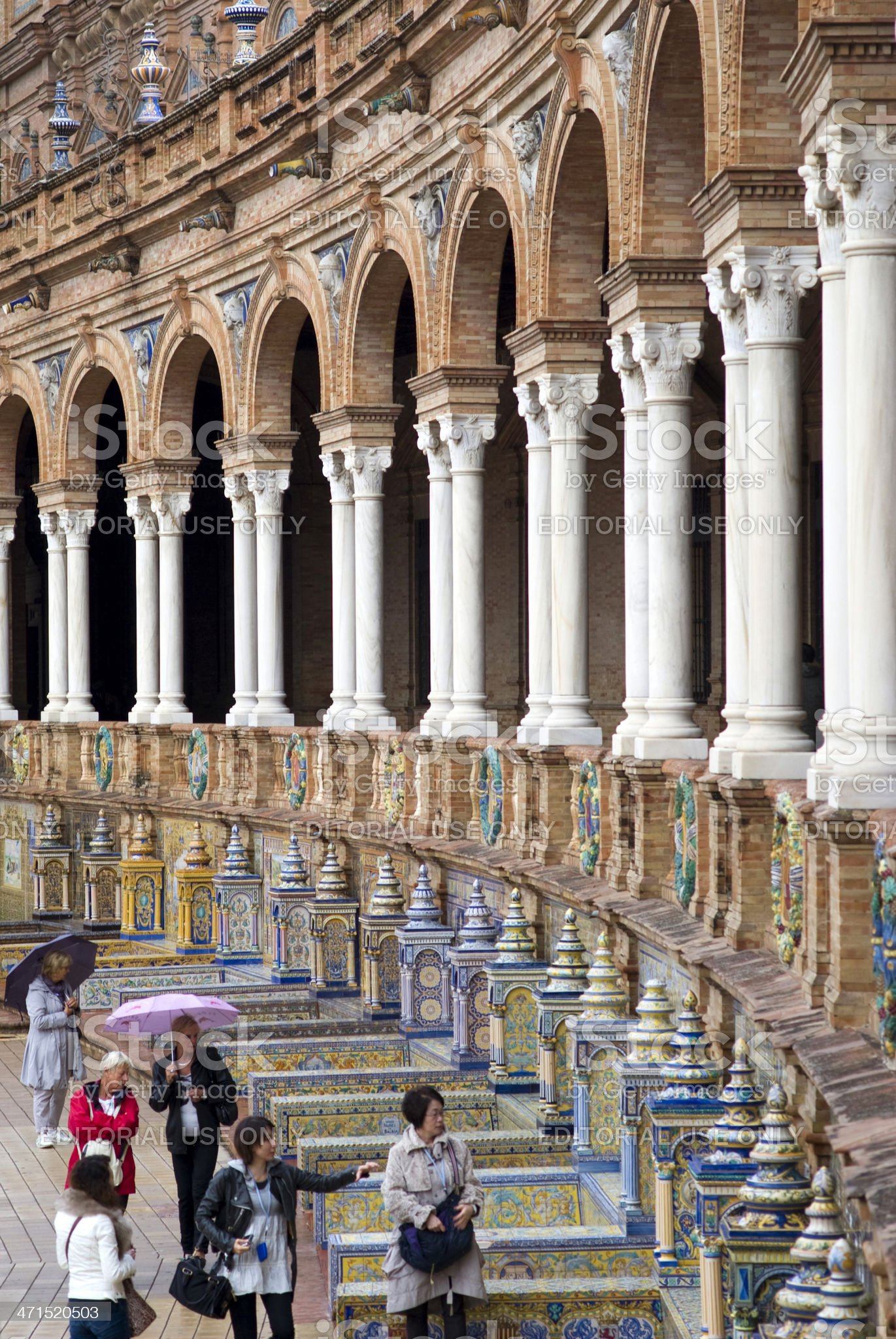 Spain Square in Seville royalty-free stock photo