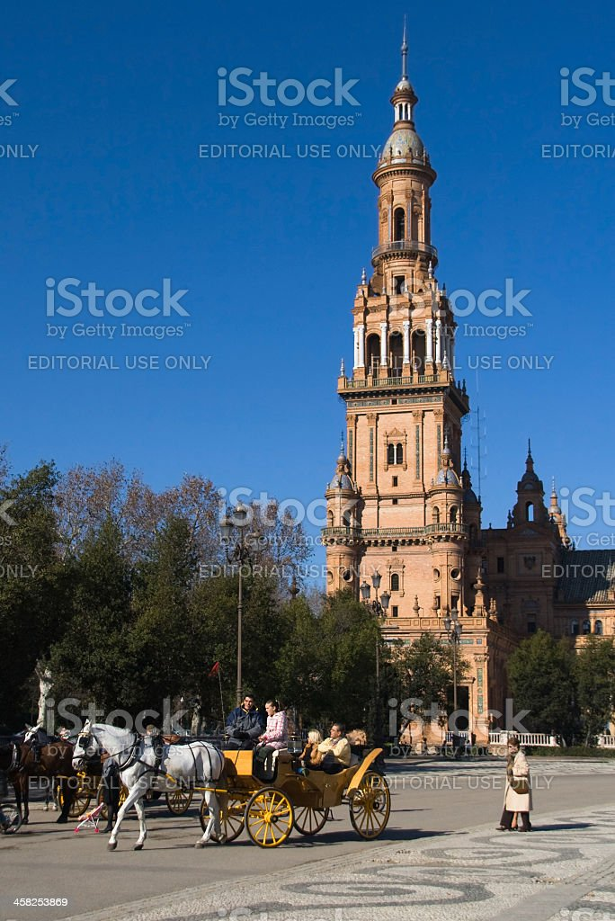 Spain Square North Tower royalty-free stock photo
