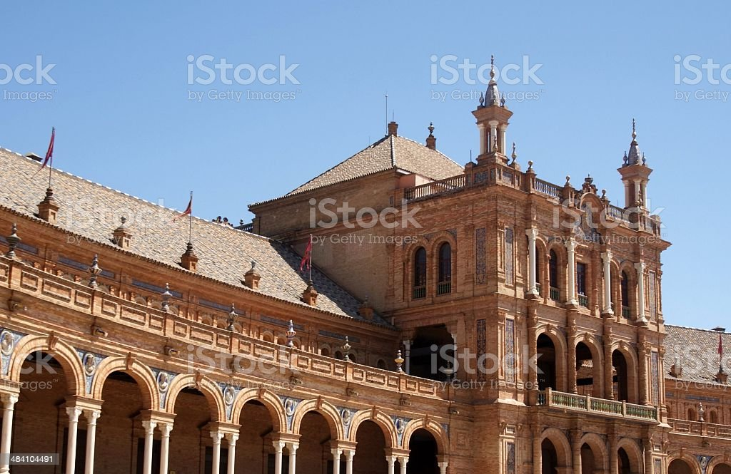 Spain Square, Seville, Spain royalty-free stock photo