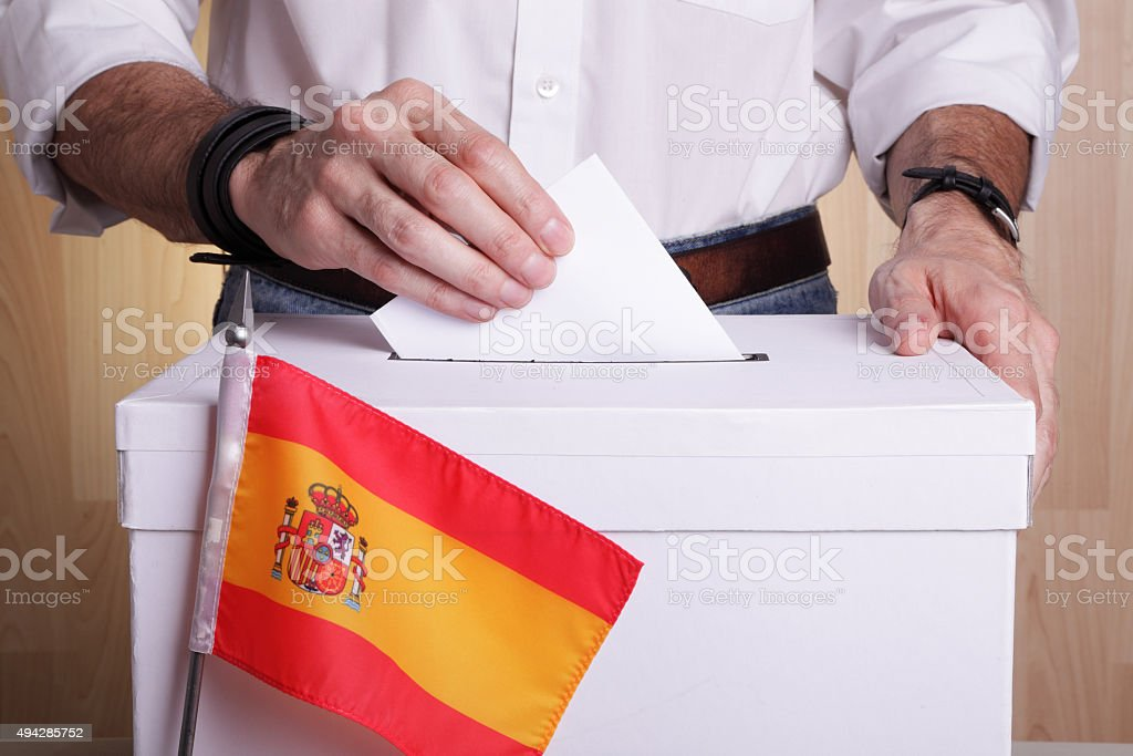 Spain to vote stock photo