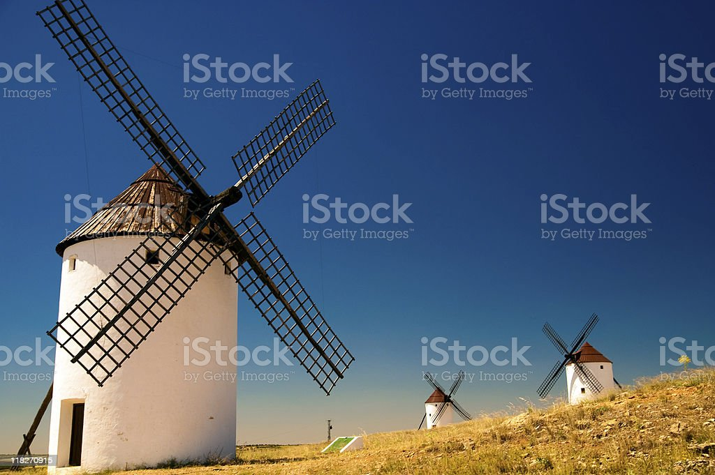Spain windmills stock photo