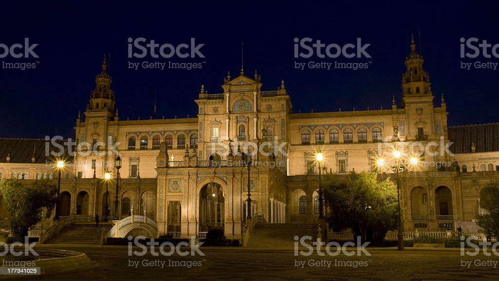 Spain's Square of Seville royalty-free stock photo