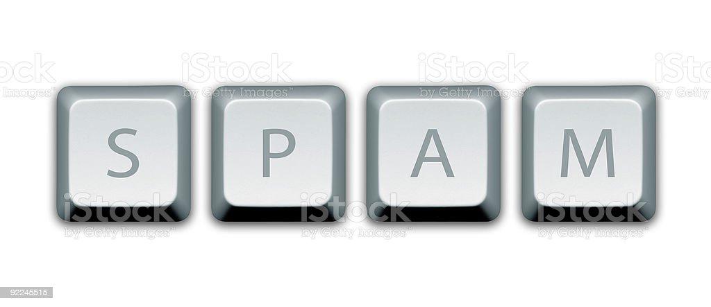 Spam Computer Keys royalty-free stock photo