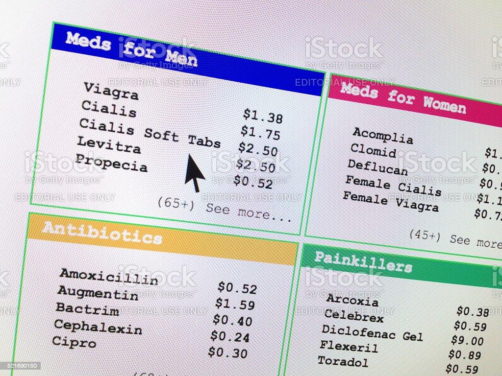 Spam email medicine viagra cialis stock photo