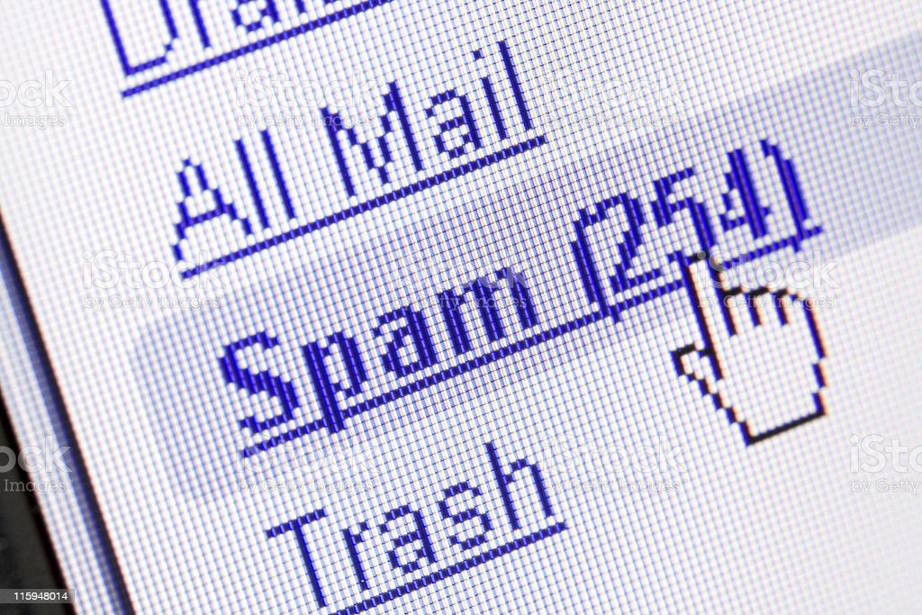 Spam in mailbox stock photo