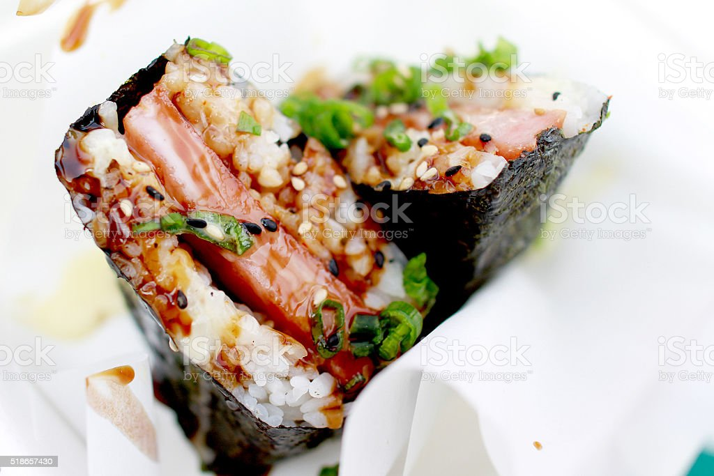 Spam Musubi stock photo