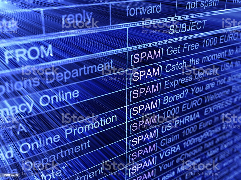 spam royalty-free stock photo