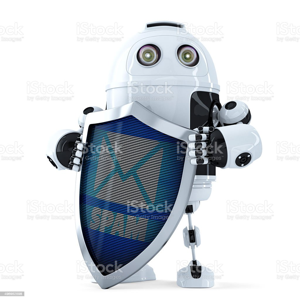 Spam protection concept. Isolated. Contains clipping path stock photo